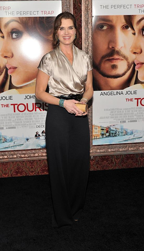 """<a href=""""http://movies.yahoo.com/movie/contributor/1800014914"""">Brooke Shields</a> attends the New York premiere of <a href=""""http://movies.yahoo.com/movie/1810149482/info"""">The Tourist</a> on December 6, 2010."""