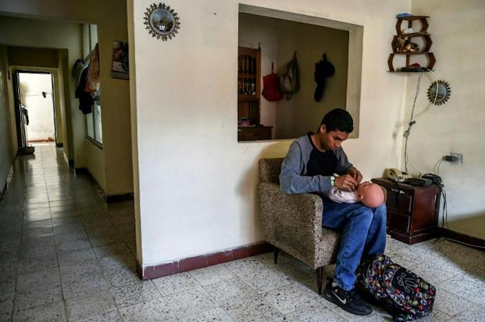 "Teenager Miguel Angel Suarez said he wants to wait until he has a job to have children, so that he can give them a ""dignified"" life (AFP Photo/JOAQUIN SARMIENTO)"