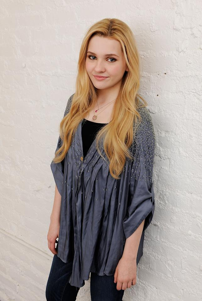 NEW YORK, NY - APRIL 26:  Actress Abigail Breslin visits the Tribeca Film Festival 2011 portrait studio on April 26, 2011 in New York City.  (Photo by Larry Busacca/Getty Images for Tribeca Film Festival)