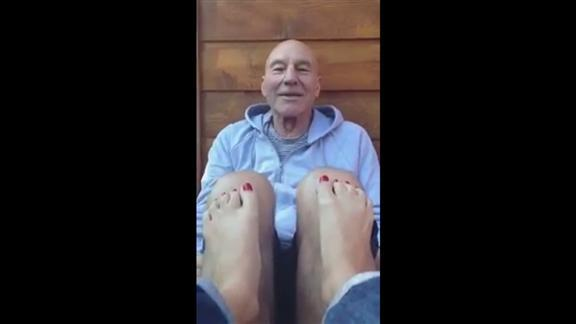 Patrick Stewart 'quadruple take' video goes viral