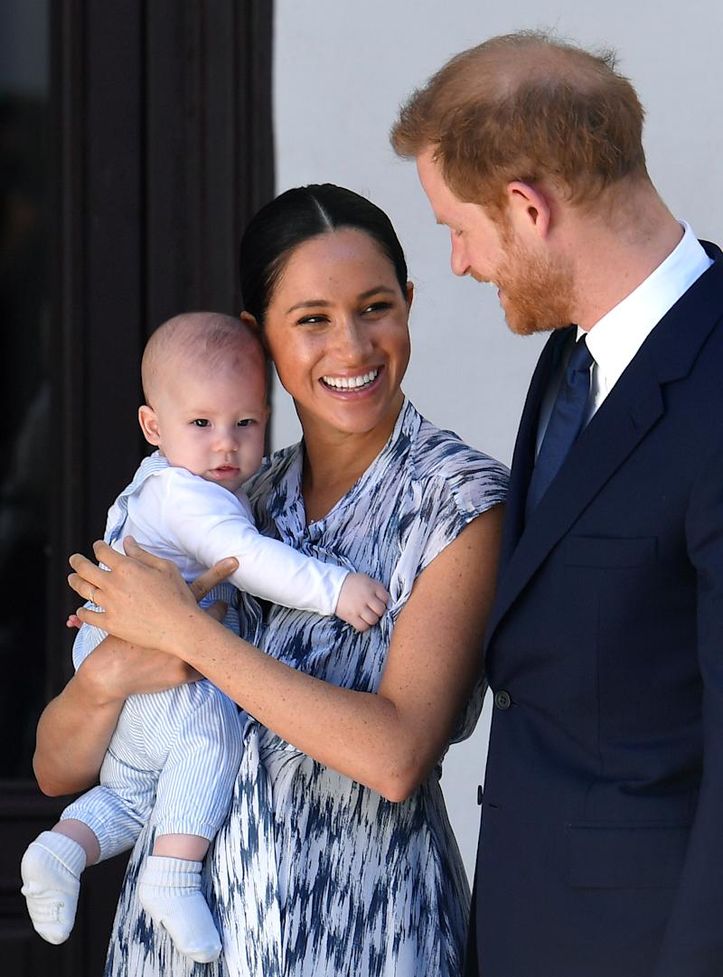 The Duke and Duchess of Sussex with their son, Archie. Image via Getty Images.