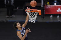 Villanova's Jeremiah Robinson-Earl goes up for a basket during the first half of the team's NCAA college basketball game against Boston College, Wednesday, Nov. 25, 2020, in Uncasville, Conn. (AP Photo/Jessica Hill)