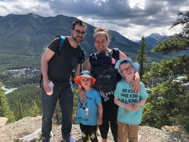 Karine Boudreau and Christian Goguen plan to move with their three children to Alberta because of isolation requirements for rotational workers, which Premier Blaine Higgs announced this week are being lifted. (Submitted by Karine Boudreau - image credit)