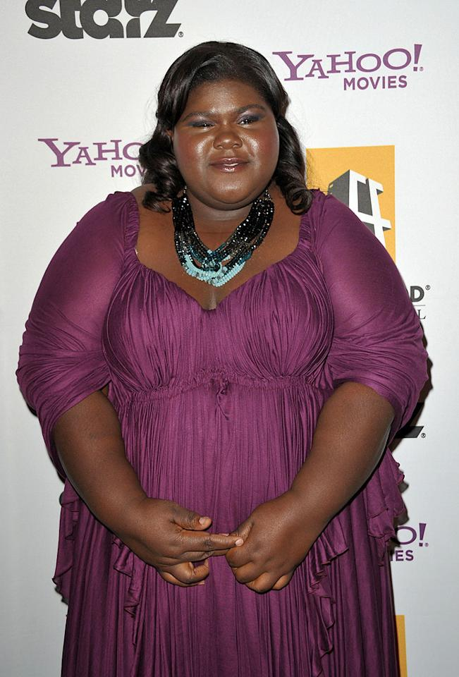 """<a href=""""http://movies.yahoo.com/movie/contributor/1810088328"""">Gabourey Sidibe</a> at the 13th Annual Hollywood Awards Gala held at the Beverly Hilton Hotel - 10/26/2009"""