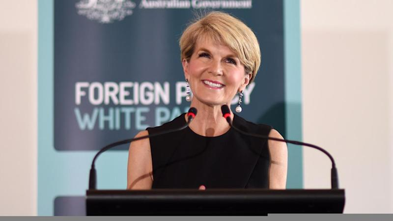 Foreign Affairs Minister Julie Bishop insists she's perfectly happy with her job.