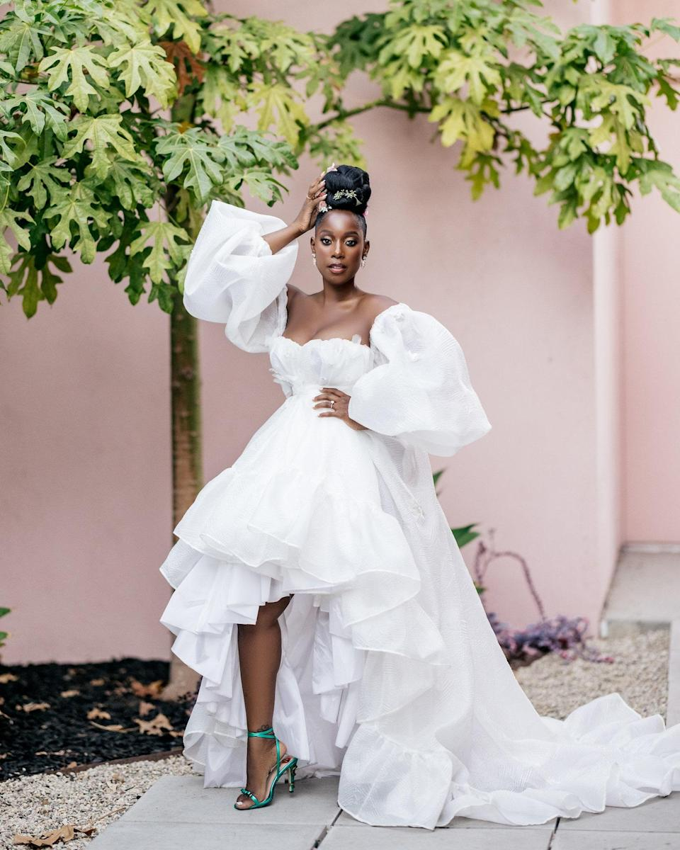 My bridal shower kicked off our wedding weekend. My incredible team created a look that was chic, fun, and elegant. I felt like a goddess.