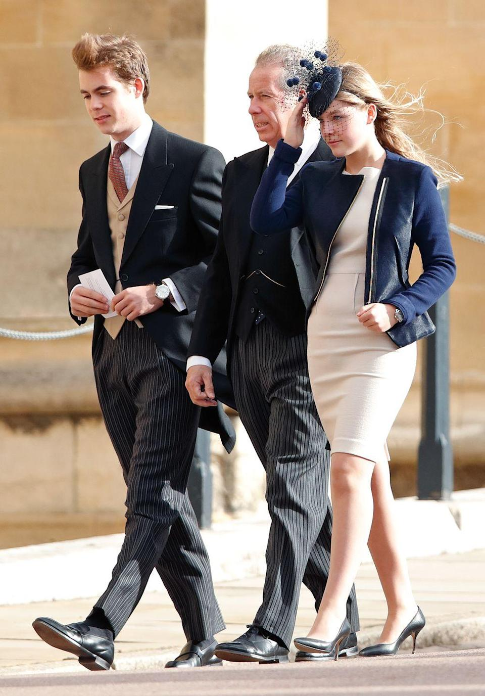 <p><strong>Branch of the Family Tree: </strong>Children of David Armstrong-Jones, Viscount Linley; grand-nephew and -niece of Queen Elizabeth II</p><p><em>(pictured here with their dad, David Armstrong-Jones)</em></p>