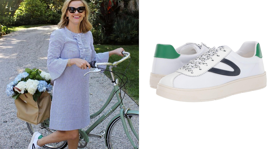 Reese Witherspoon's iconic white sneakers literally go with every outfit