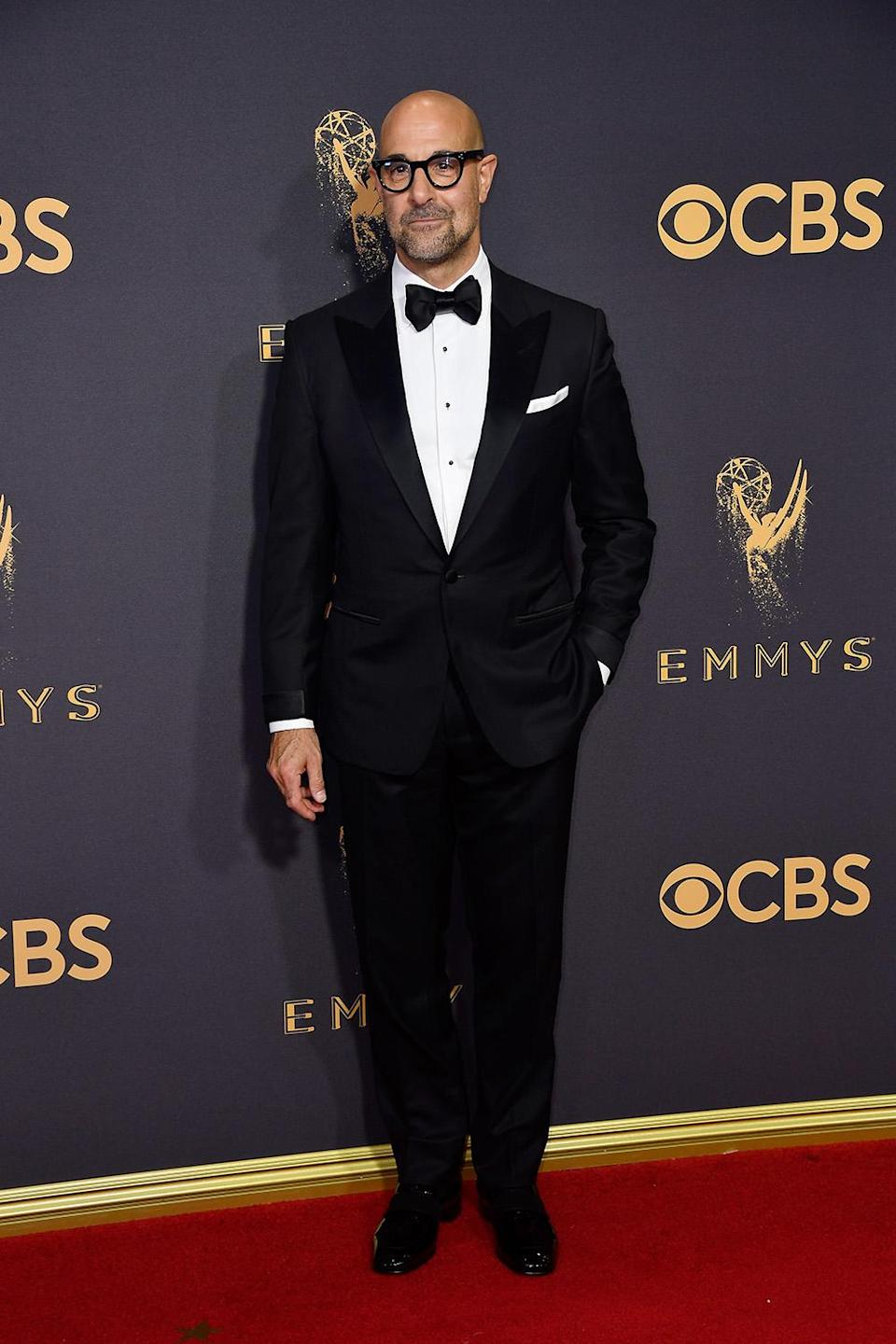 <p>Stanley Tucci attends the 69th Annual Primetime Emmy Awards on September 17, 2017.<br> (Photo: Getty Images) </p>