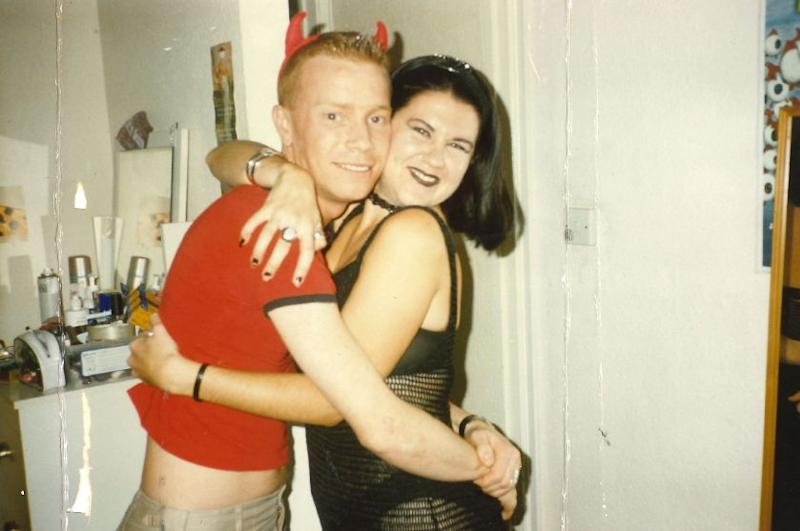Matt Bagwell, pictured with a friend at a party, circa 1998. (Photo: Matt Bagwell)