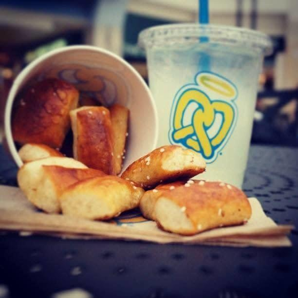 The hot, buttery smell that emanates from Auntie Anne's is totally irresistible. It feels so dirty and so, so good.