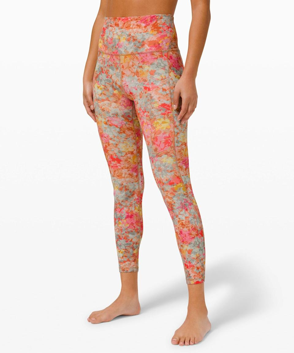 "<p>Have some fun with these vibrant <span>Lululemon Align High Rise Pant with Pockets 25""</span> ($128).</p>"