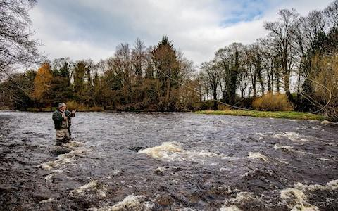 Salmon fishing in the River Ure, East Witton, North Yorkshire  - Credit: Charlotte Graham