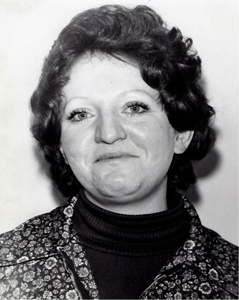 This undated photo provided by the San Luis Obispo County Sheriff's Office shows murder victim Patricia Dwyer, whose body was found in her home in Atascadero, Calif., on Jan. 11, 1978. Authorities say DNA evidence has linked the cold-case rape and murder of two women in California's Central Coast to a man who died in a prison in Washington state. The San Luis Obispo County Sheriff's Office said Wednesday, April 17, 2019 that DNA obtained from items owned by Arthur Rudy Martinez recently matched DNA left by the suspect in two killings in Atascadero in the late 1970s.