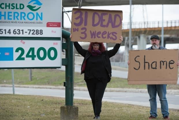 A coroner's inquiry is investigating deaths at Maison Herron, a long-term care home in the Montreal suburb of Dorval, Que. (Graham Hughes/Canadian Press - image credit)