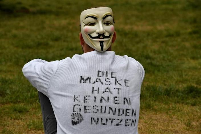 A growing wave of protests has shocked Germany, with many of the demonstrators spouting conspiracy theories (AFP Photo/John MACDOUGALL)
