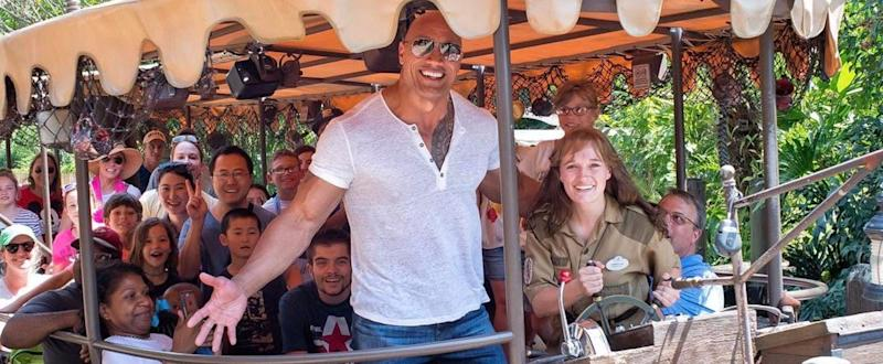 Dwayne Johnson Gives Some Lucky Disney Tourists the Surprise of Their Lives