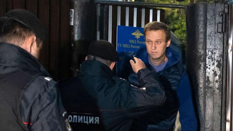 Vladimir Putin's most prominent critic, Alexey Navalny, is let out of Russian jail, then arrested again
