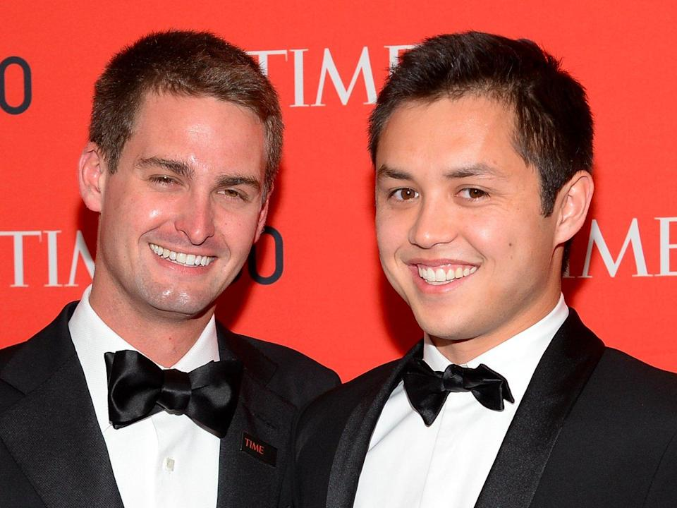 Snap co-founders Evan Spiegel and Bobby Murphy.