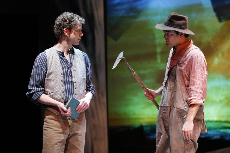 """In this publicity photo released by Shirley Herz Associates, Lucas Hall, left, and Rod Brogan perform in a scene from Eugene O'Neill's """"Beyond the Horizon,"""" performing off-Broadway at The Irish Repertory Theatre in New York.  (AP Photo/Shirley Herz Associates, Carol Rosegg)"""