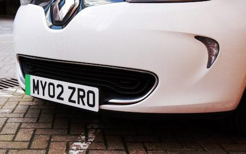 The green 'splash' version of the number plate - Credit: Department of Transport