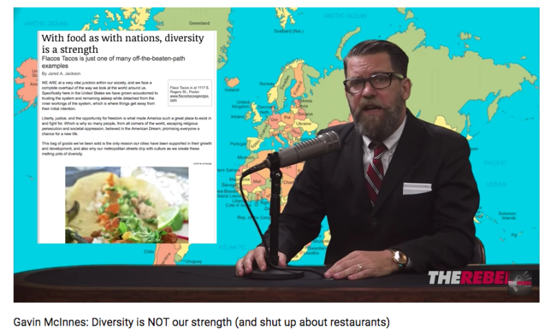 "Gavin McInnes, the ""Alt-Lite"" figure and self-proclaimed ""western chauvinist"" founder of the Proud Boys. (Screenshot)"