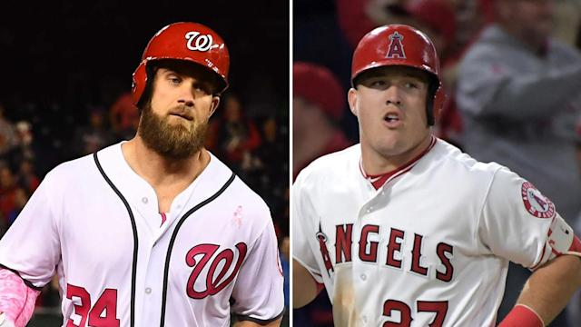 "Do Bryce Harper and Mike Trout make baseball's ""superstar"" list? (AP)"