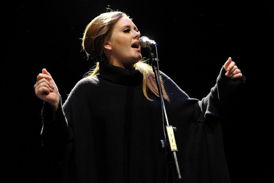 Adele performing on the day of 21's release in 2011 (Photo: Andy Sheppard via Getty Images)