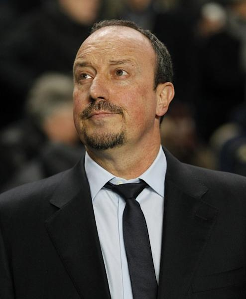 Chelsea manager Rafael Benitez awaits kick-off ahead of the UEFA Champions League match at home to FC Nordsjaelland on December 5. The Spaniard must halt a decline that has left Chelsea without a win in their last seven Premier League games or face more questions about his ability to see out the full term of his seven-month contract