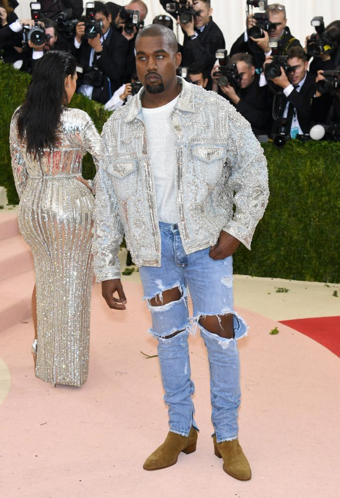 Kanye West at the Met Ball in 2016.