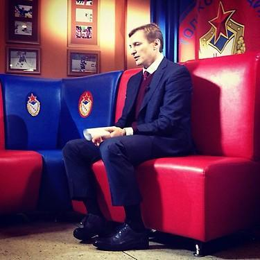 Sergei Fedorov, GM of CSKA Moscow. (#NickInEurope)