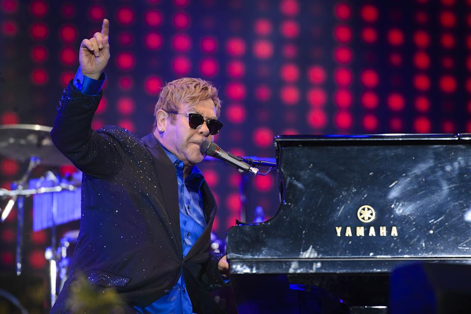 File photo dated 11/09/16 of Sir Elton John performing at Radio 2 Live in Hyde Park, in Hyde Park, London. Sir Elton John will play his final London tour date at the BST Hyde Park festival in 2022, it has been announced. Issue date: Friday September 3, 2021.