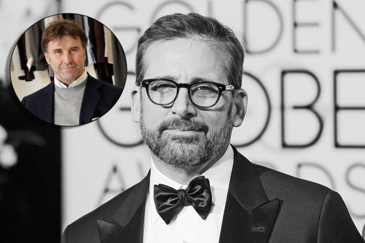 BEVERLY HILLS, CA - JANUARY 10: 73rd ANNUAL GOLDEN GLOBE AWARDS -- Pictured: Actor Steve Carell arrives to the 73rd Annual Golden Globe Awards held at the Beverly Hilton Hotel on January 10, 2016. (Photo by Kevork Djansezian/NBC/NBCU Photo Bank via Getty Images)