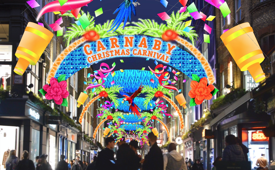 """<p>Shopping haven Carnaby Street will be switching on its carnival-themed lights on November 9 at 6pm. As with everywhere else in London, the surrounding stores will have exclusive discounts until 9pm. There'll also be a DJ and pop-up bar offering rum cocktails to ticket-holders. Register for a free ticket <a rel=""""nofollow"""" href=""""https://www.carnaby.co.uk/"""">here</a>.<br /><br /></p>"""