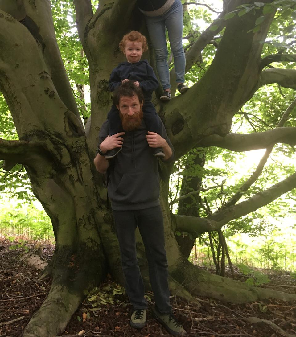 James Malone was last seen playing with dad Ian on Sunday morning (Northumbria Police)