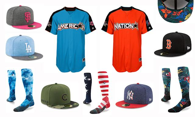 Various holiday and special event uniforms for the 2017 baseball season. (MLB)