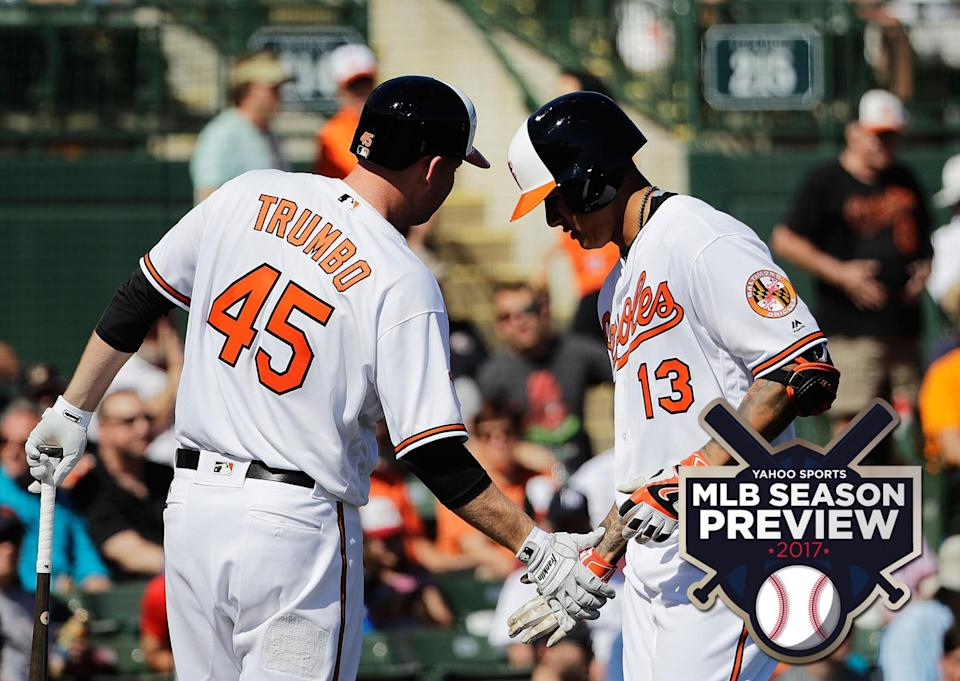 Mark Trumbo and Manny Machado are among the most powerful Orioles. (AP)