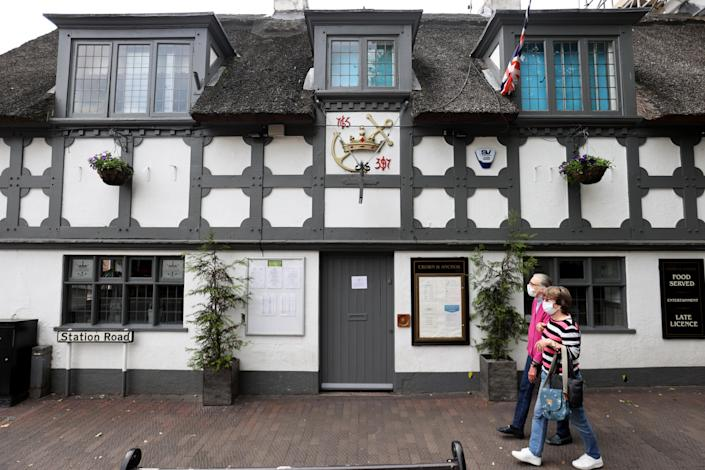 Nineteen people have tested positive for coronavirus following an outbreak linked to the Crown and Anchor pub in Stone, Staffordshire. (Reuters)
