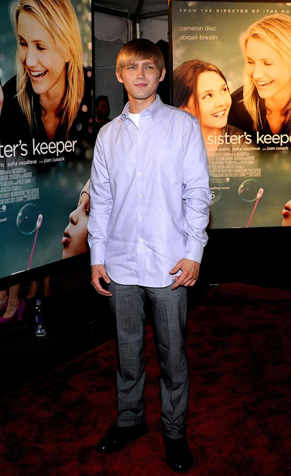 """<a href=""""http://movies.yahoo.com/movie/contributor/1809500882"""">Evan Ellingson</a> at the New York City premiere of <a href=""""http://movies.yahoo.com/movie/1810003155/info"""">My Sister's Keeper</a> - 06/24/2009"""