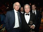 <p>Larry David and Lorne Michaels at HBO's Post Emmy Awards Reception at the Plaza at the Pacific Design Center. (Photo: Matt Winkelmeyer/Getty Images) </p>