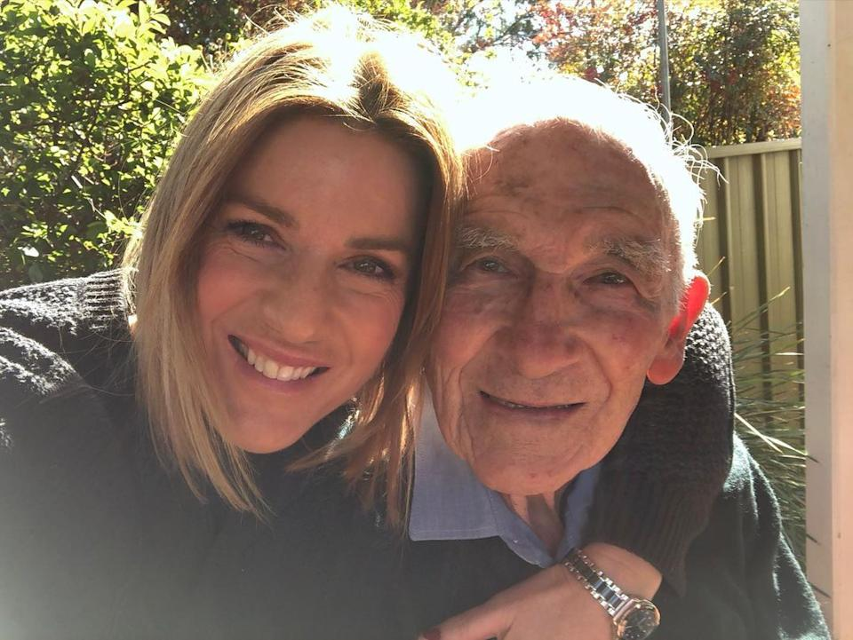 Kylie Gillies' selfie with her dad.