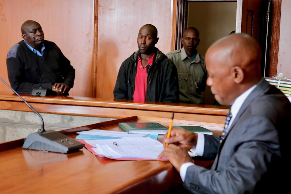 Zachary Mboya Kinyua was convicted by Senior Resident Magistrate Phillip Mutua after he was found guilty of possessing two elephant tusks. ('Walk For Giants'/Francesco Carrozzini/Riccardo Ruini)