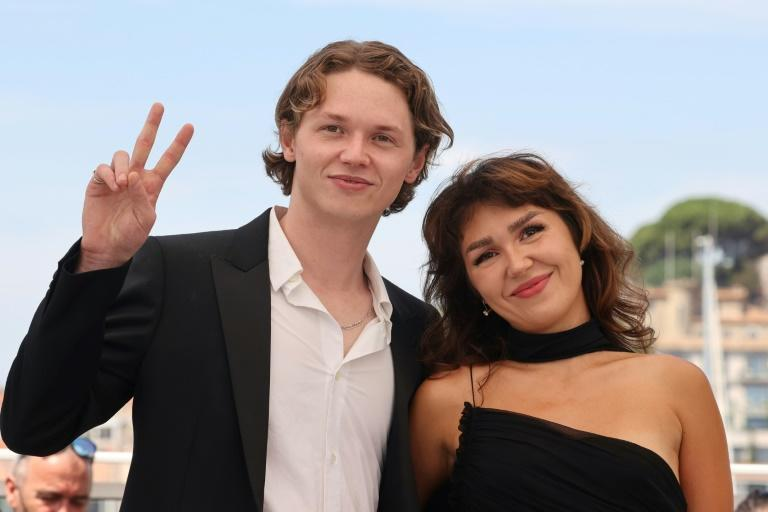 """Val Kilmer's children Jack and Mercedes Kilmer attended the launch of """"Val"""" at Cannes"""