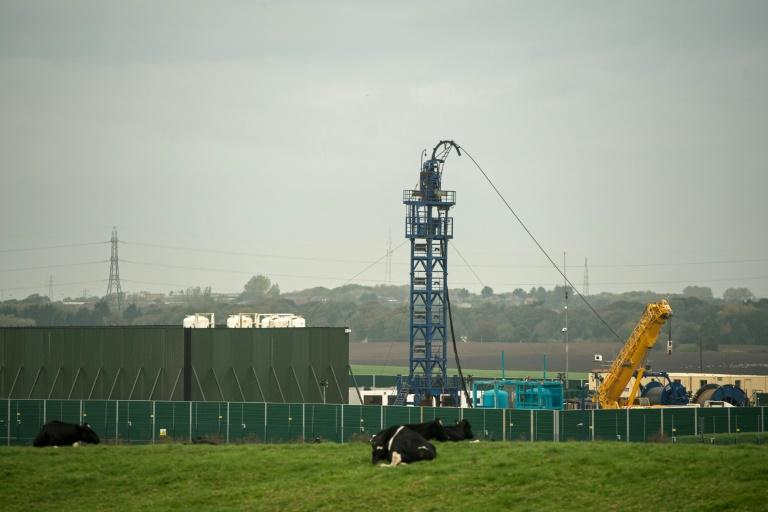 The British government has imposed a moratorium on fracking at Cuadrilla Resources' site at Preston New Road (AFP Photo/Oli SCARFF)