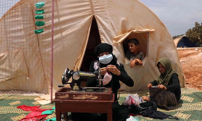 Aid agencies warn of Covid-19 crisis in refugee camps as winter approaches