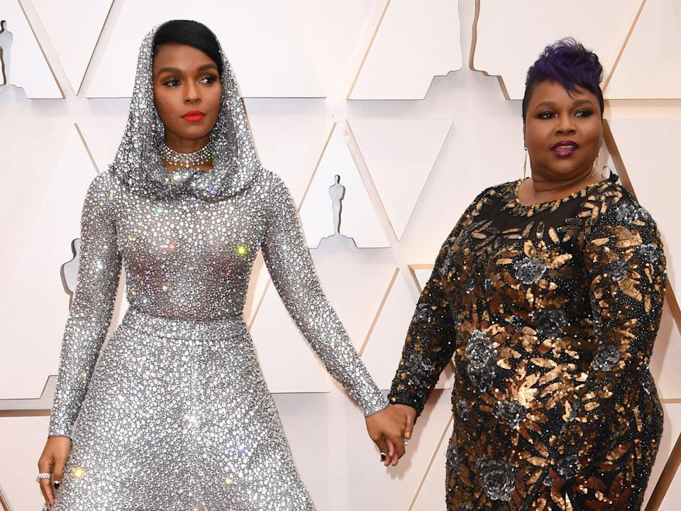 Janelle Monae and her mother Janet arrive for the ceremony.