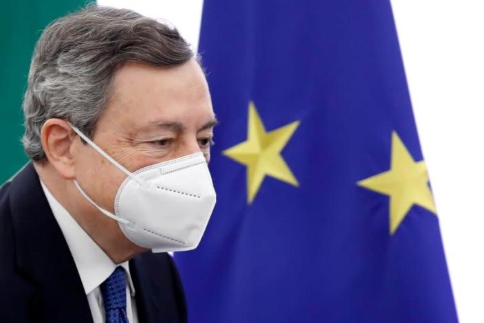 FILE PHOTO: Italian Prime Minister Mario Draghi meets journalists, in Rome