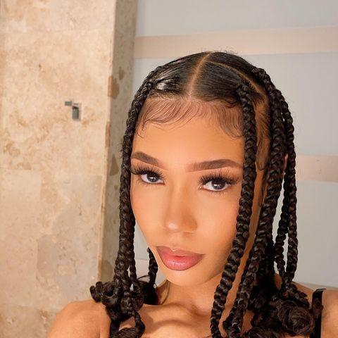 """<p>Perhaps one of the easiest protective styles out there, these jumbo box braids with curly ends—which have become a signature for musician Coi Leray—are not as time-consuming as regular box braids and can create less tension on the scalp.</p><p><a href=""""https://www.instagram.com/p/CNfQvJ_AutC/"""" rel=""""nofollow noopener"""" target=""""_blank"""" data-ylk=""""slk:See the original post on Instagram"""" class=""""link rapid-noclick-resp"""">See the original post on Instagram</a></p>"""