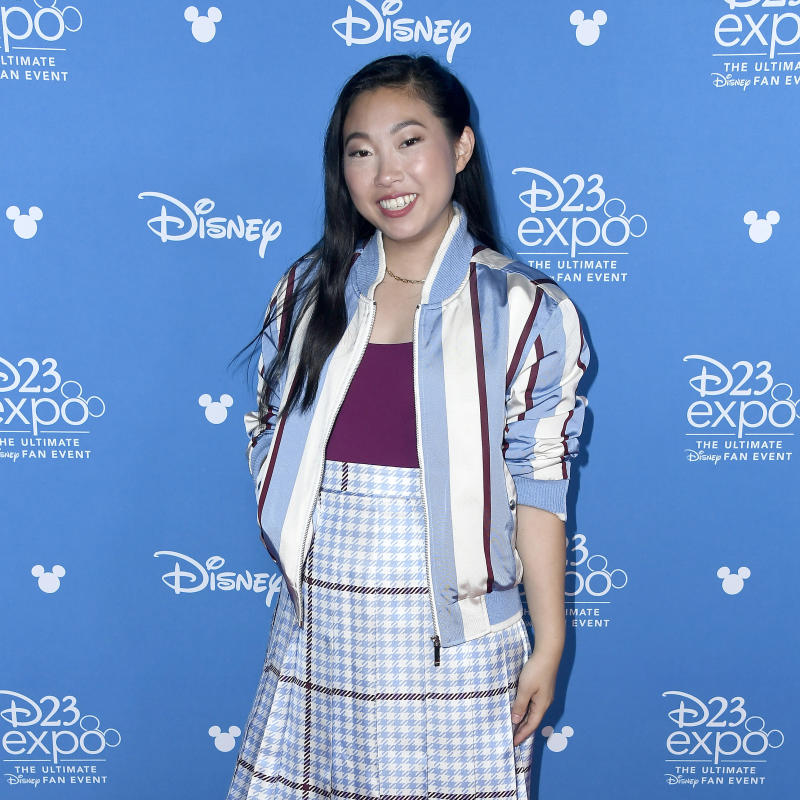 ANAHEIM, CALIFORNIA - AUGUST 24: Awkwafina attends Go Behind The Scenes with Walt Disney Studios during D23 Expo 2019 at Anaheim Convention Center on August 24, 2019 in Anaheim, California. (Photo by Frazer Harrison/Getty Images)