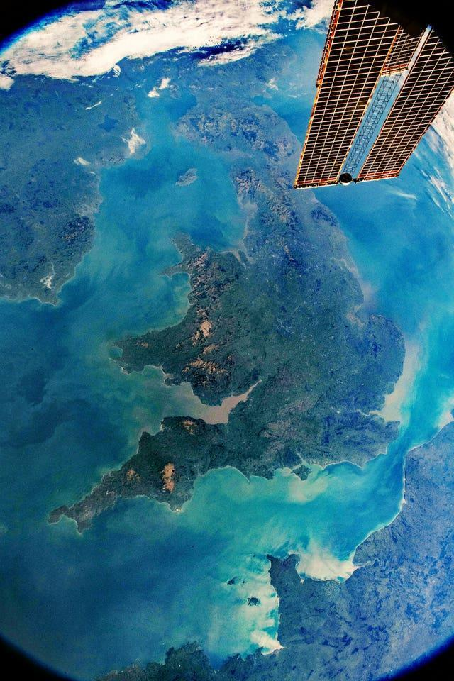 The United Kingdom viewed from space (Nasa/PA)